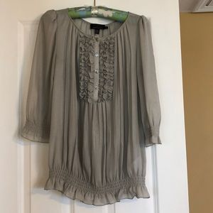 Ted Baker sheer blouse grey size 3
